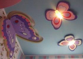 Метелики з гіпсокартону на стелі