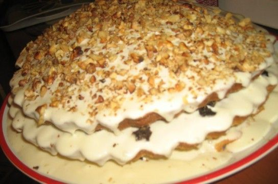 Бабушкін сметанний торт Бахетле рецепт