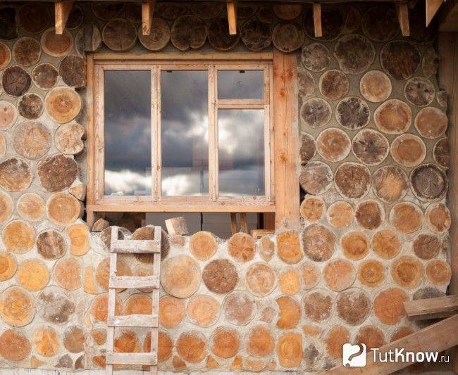 Стіна лазні з гліночуркі