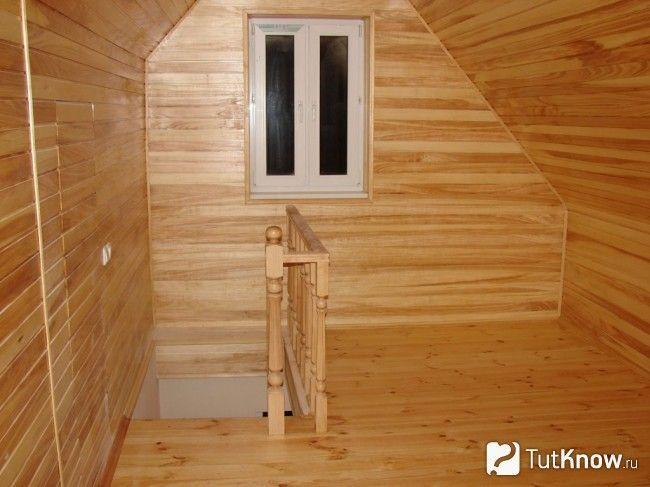 Мансардне приміщення в лазні