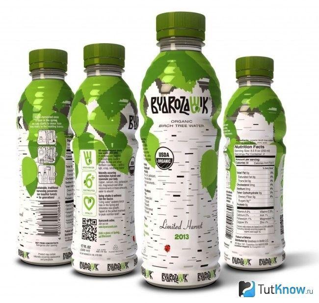 Березовий сік в пляшках