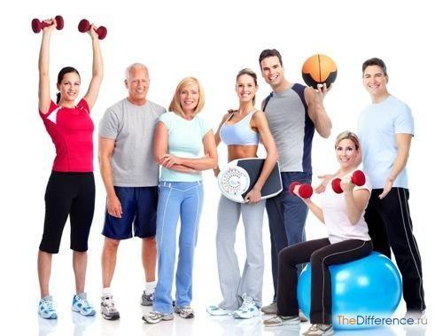 відміну фізкультури від спорту