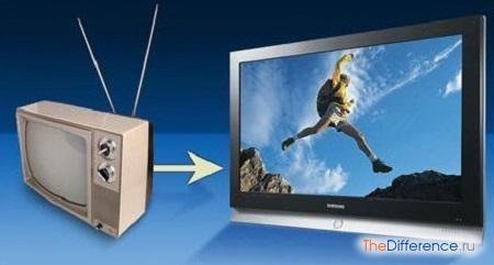 відміну цифрового телебачення від аналогового