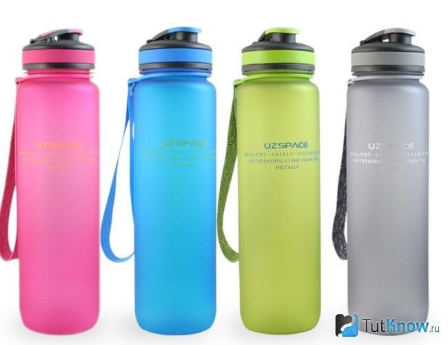 Пляшки, в яких зручно носити з собою напій на тренування