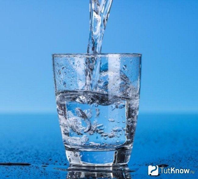 Вода ллється в склянку
