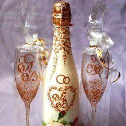 Декупаж шампанського