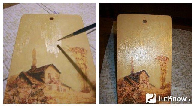 Готова картина, декорована серветками