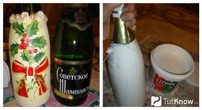 Матеріали для декупажу пляшки
