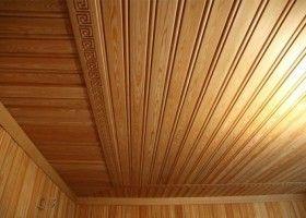 Дерев`яні шпалери на стелі
