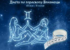 Дієта по гороскопу Близнюки (22 травня - 21 червня)