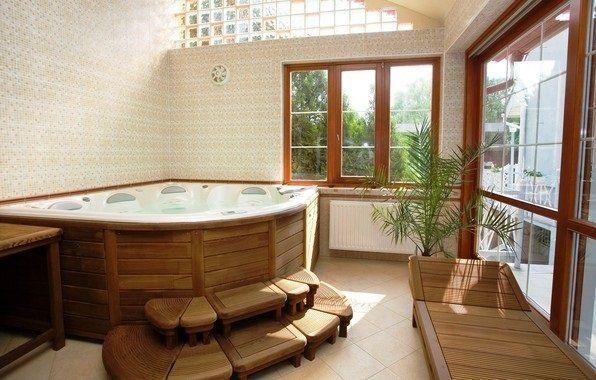 Фото джакузі у ванній кімнаті