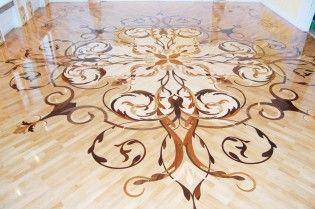 Палацовий стиль в інтер`єрі - підлога з паркету