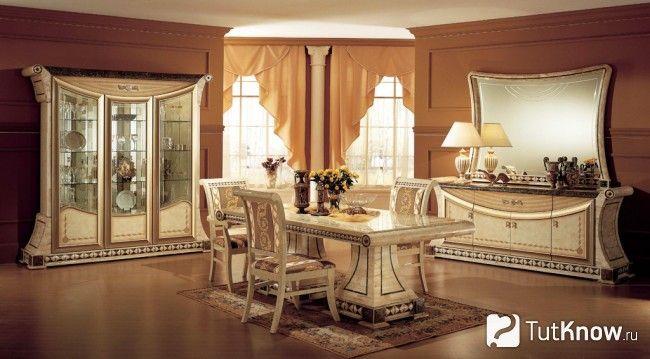 Палацовий стиль в інтер`єрі - меблі