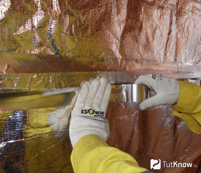 Теплоізоляція Ізовер стін лазні