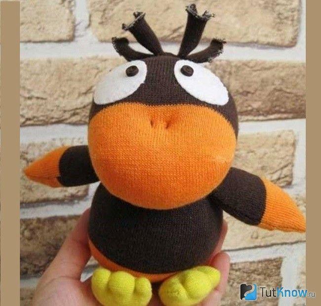 Іграшка-ворона з тканини