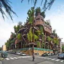 Міський будинок на дереві захищає жителів від шуму і забрудненого повітря