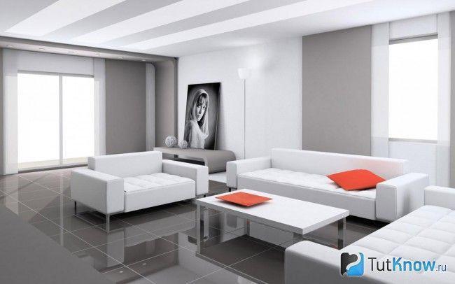 Стиль хай-тек в інтер`єрі вітальні