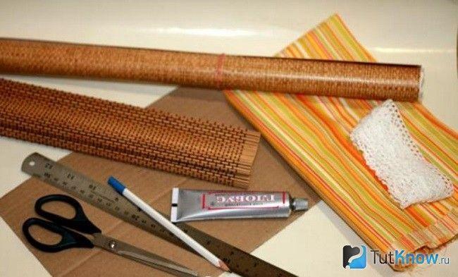 Матеріали для виготовлення хлібниці з картону