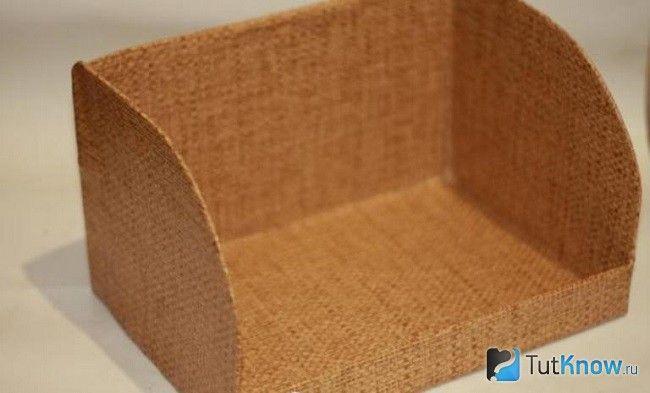 Картонна коробка для хлібниці, обклеєна плівкою