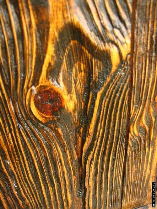 Штучне состаренное дерево своїми руками