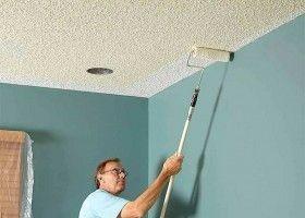 Як фарбувати стелю фактурної фарбою