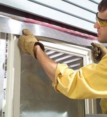 Лицьова картон і гідроізоляція вікна