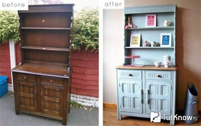 Шафа до і після реставрації