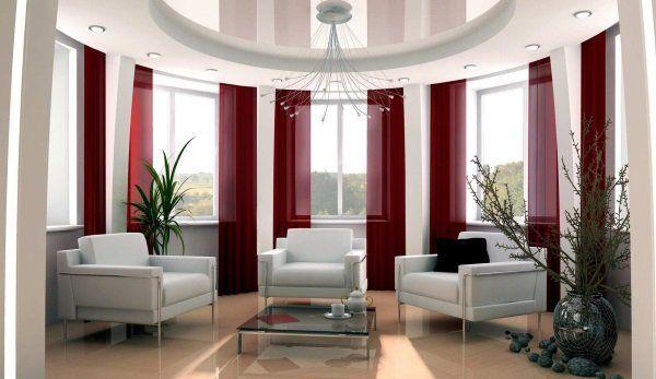 Красиві штори в вітальні
