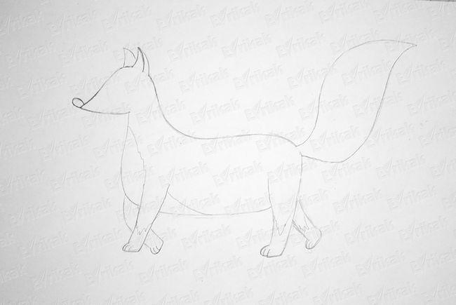 Малюємо лапки лисички.