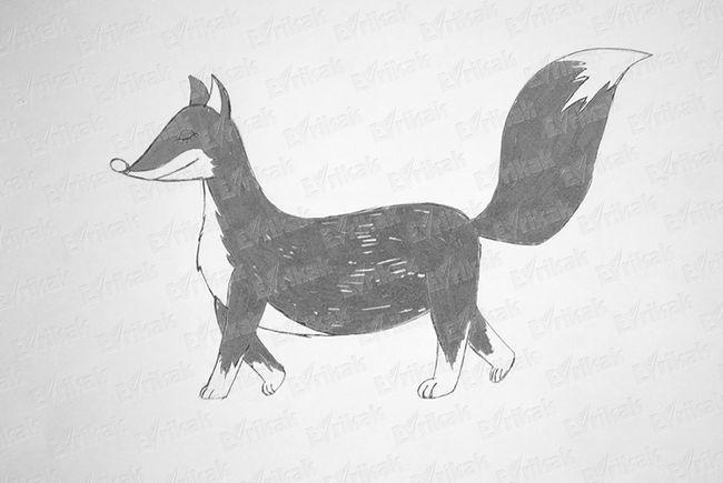Розмальовуємо лисичку.