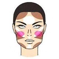 Як наносити хайлайтер на квадратне обличчя