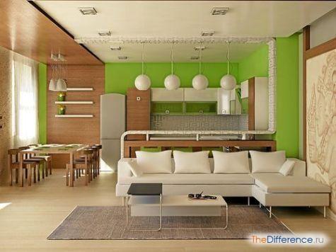Як розставити меблі в однокімнатній квартирі?