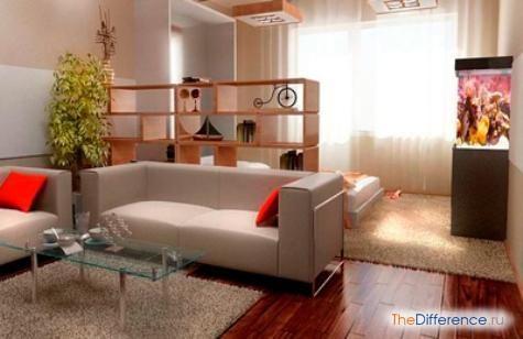 як розставити меблі в однокімнатній квартирі з дитиною