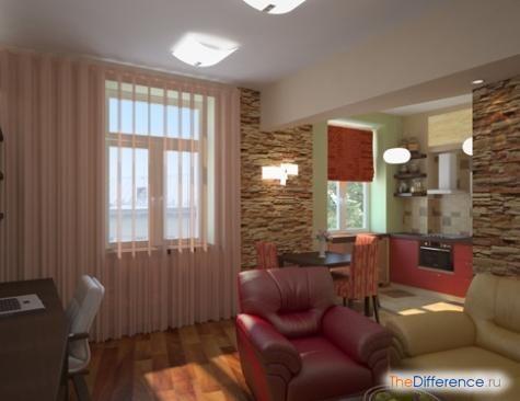 розставити меблі в однокімнатній квартирі