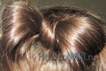 Як зробити бант з волосся?