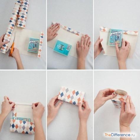 як зробити паперовий пакет своїми руками схема
