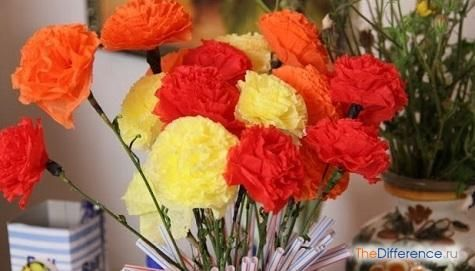як зробити квіти з серветок своїми руками