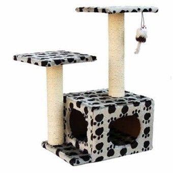 Будиночок для кішки може бути величезним ігровим комплексом або простою конструкцією, як ця