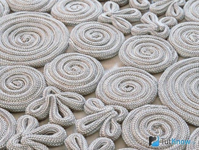 Фрагмент килима з мотузки