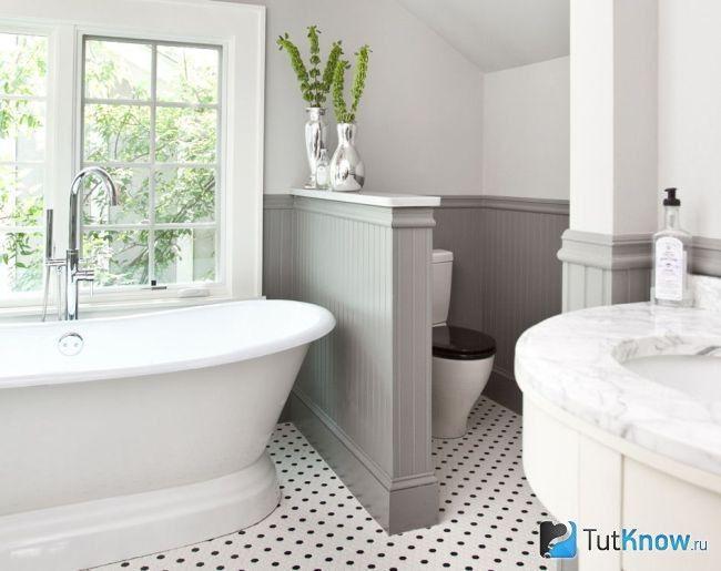 Декоративна перегородка у ванній