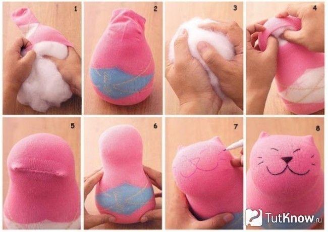 Виготовлення кошеня з носка