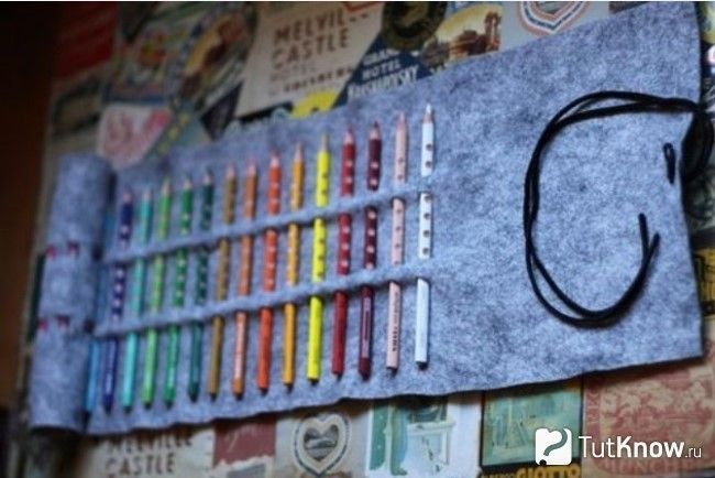 Тримач для олівців з повсті