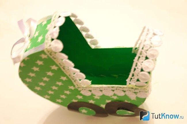Декорування картонній коляски