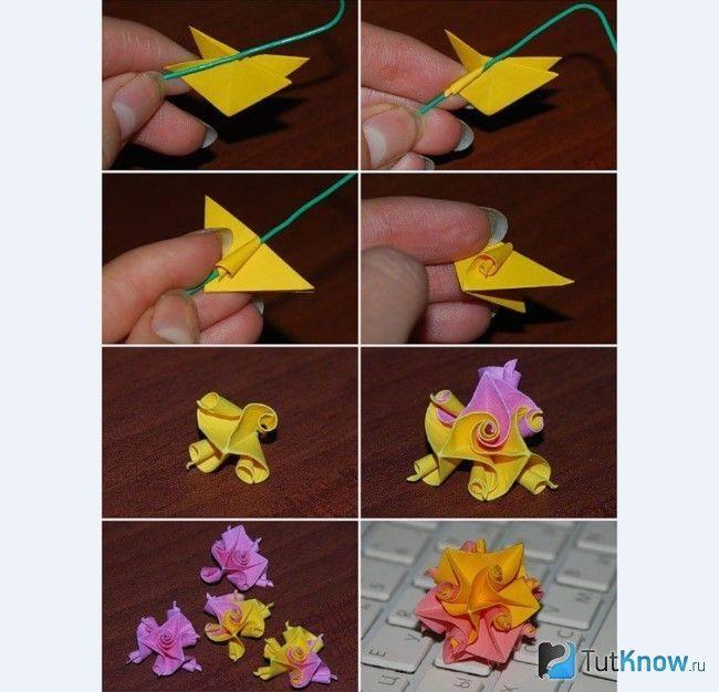 Схема виготовлення квітки з паперу
