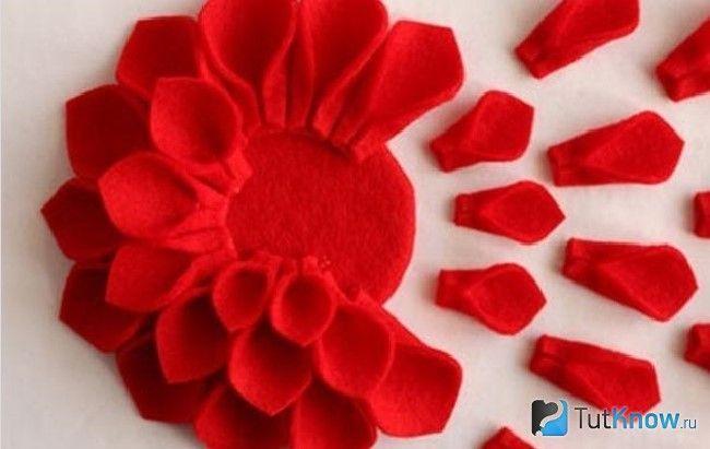 Виготовлення квітів з тканини