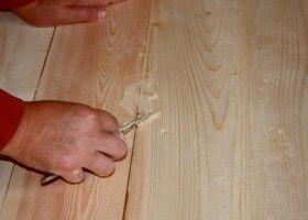 Як шпаклювати дерев`яні підлоги