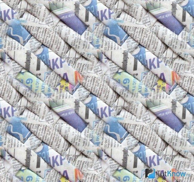 Плетіння стінок прямокутної кошика по діагоналі