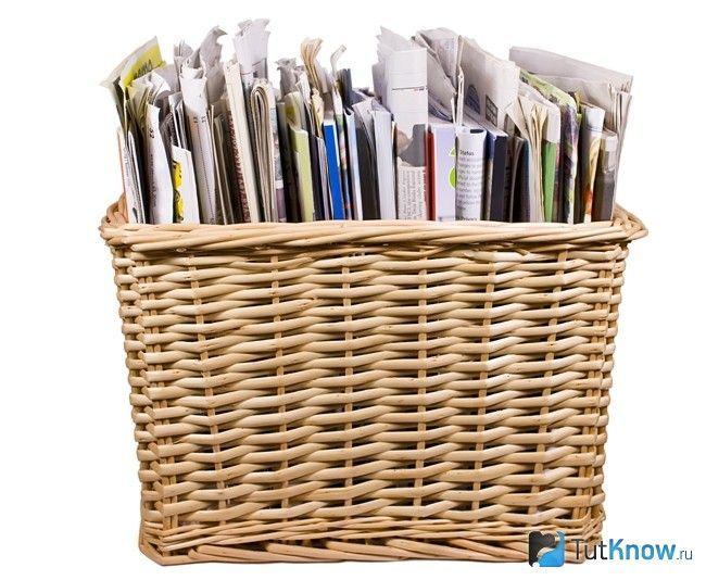 Газети для плетіння кошика