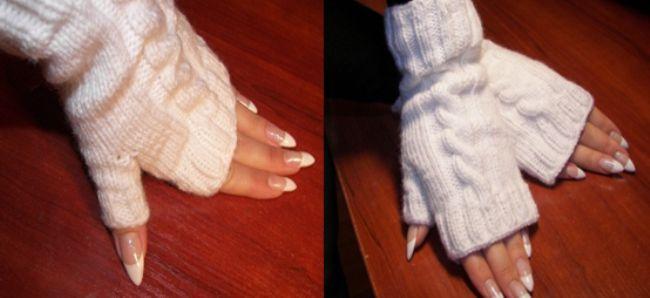 Рукавиці з відкритими пальцями