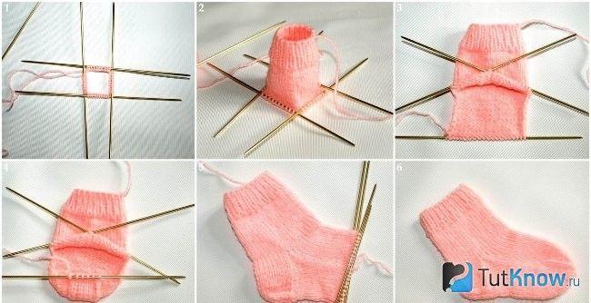 В`язання шкарпеток покроково